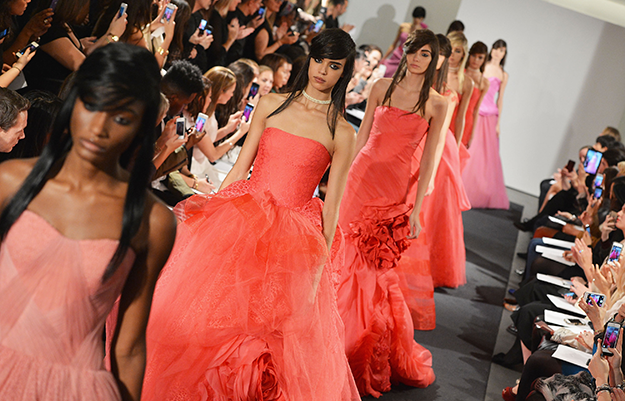 Fall bridal 2014: Only Vera Wang could send all PINK gowns down the runway -- and nail it
