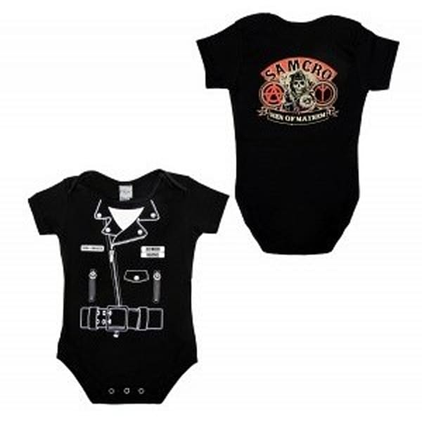 Sons Anarchy Samcro Leather Jacket Onesie