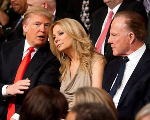 Donald trump kathie lee and frank gifford watch regis final live