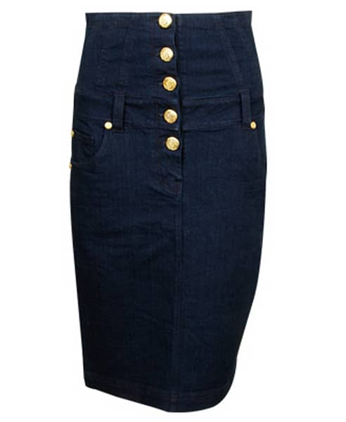 high waist denim pencil skirt 22 80 forever 21