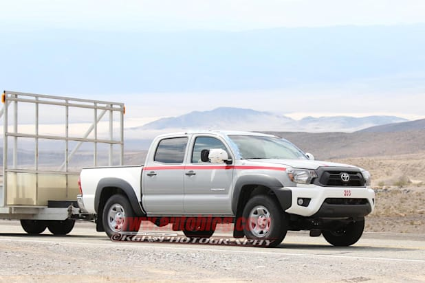 2016 Toyota Tacoma Test Mule Towing