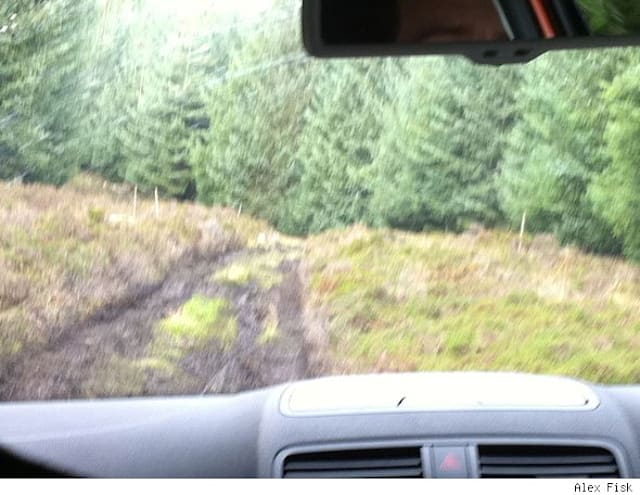 Off-road in a Skoda Yeti