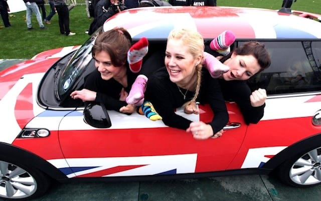 How many girls can you fit into a Mini?