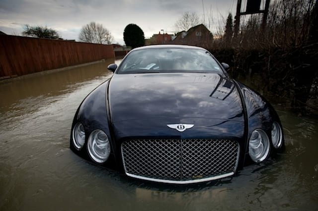 Flooded Bentley Continental GT
