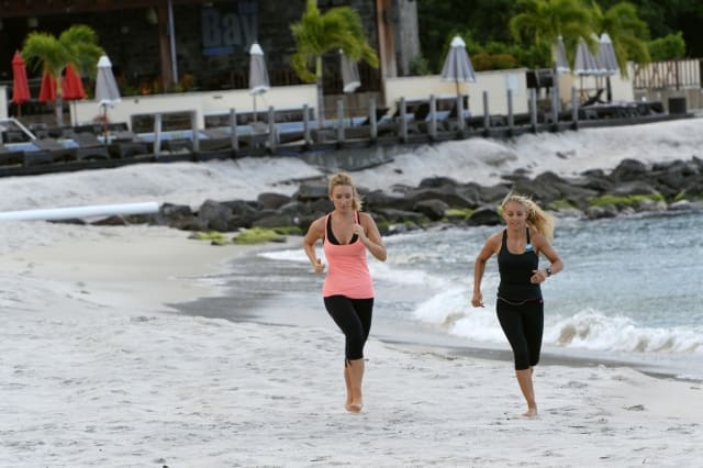 Catherine Tyldesley on holiday in St Vincent