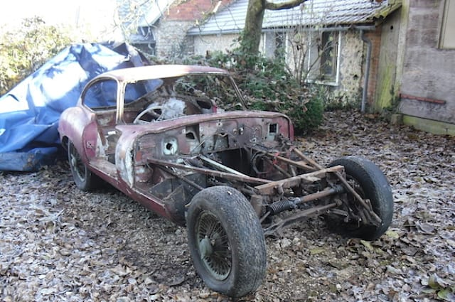 Rotting Jaguar E-Type is restored to original splendour