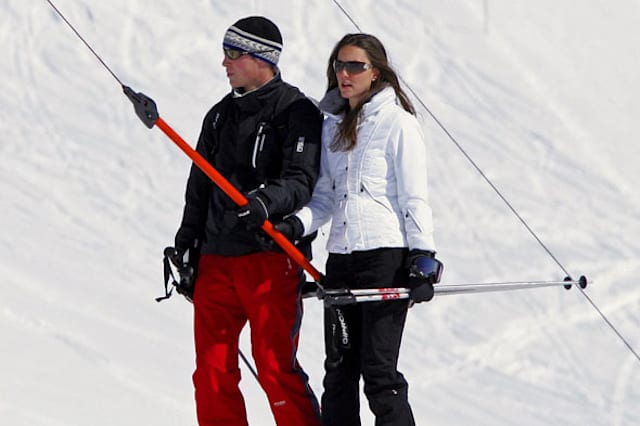 Celebs on skis
