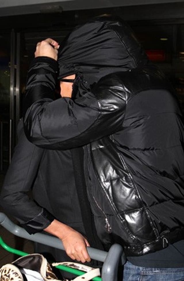 Celebrities hiding at the airport