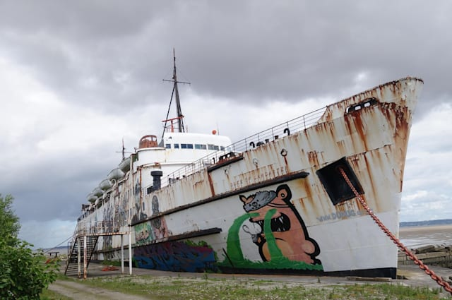 Explorer Enters Abandoned Cruise Ship Off Wales For First