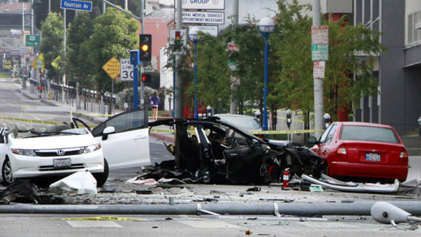 Tesla Investigating Fiery Model S Crash In Los Angeles