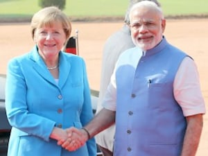 In Photos : German Chancellor Angela Merkel's Visit To India