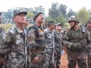 Indian And Chinese Border Troops Hold Joint Disaster Relief Exercise