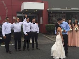 Kiwi Groom Makes New Wife Stop At KFC For Pic