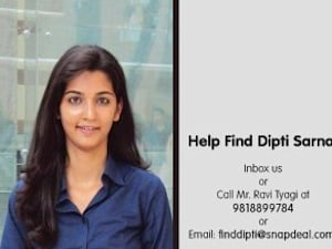 24-Year-Old Snapdeal Employee Dipti Sarna Abducted In Ghaziabad After Chilling Call To Father