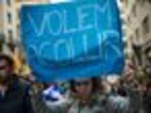 Barcelona Holds Huge Protest In Support Of Refugees