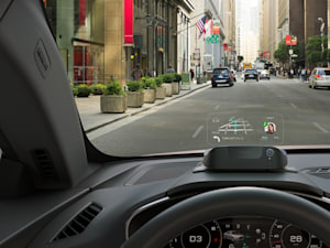 Driving while connected with the Navdy heads up display