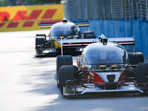 Self-driving car race finishes with a crash