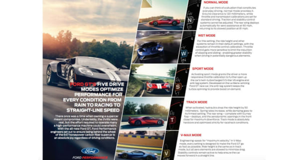 Ford gt modes