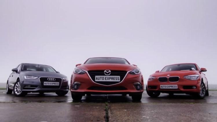 Mazda3 versus BMW 1 Series and Audi A3 in Euro diesel showdown