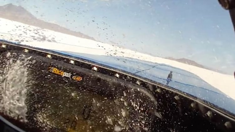 Decelerating from a 390-mph land speed record run might just trigger your fire system