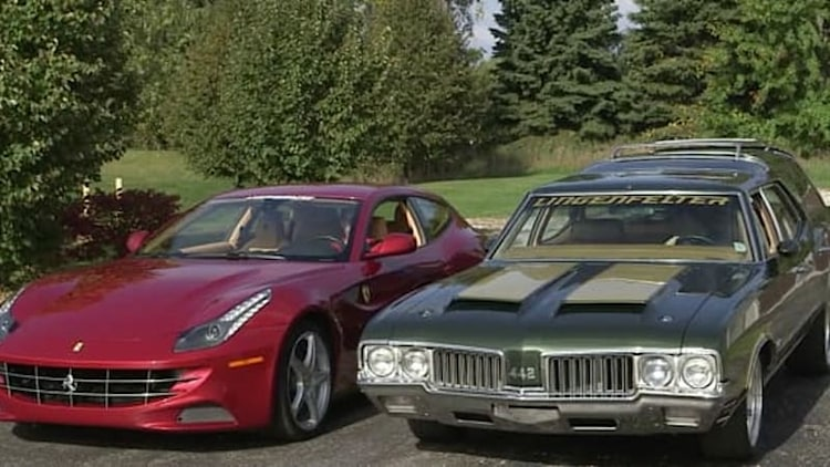 Ferrari FF pitted against Oldsmobile Vista Cruiser in crazy Generation Gap comparison