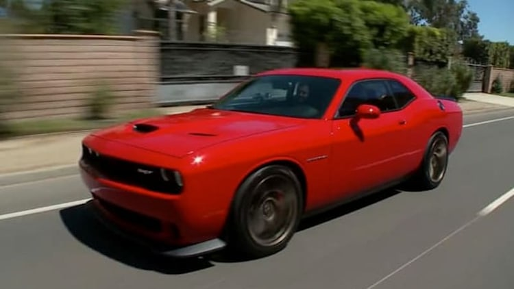Jay Leno gets his denim mitts on Dodge's new Challenger Hellcat