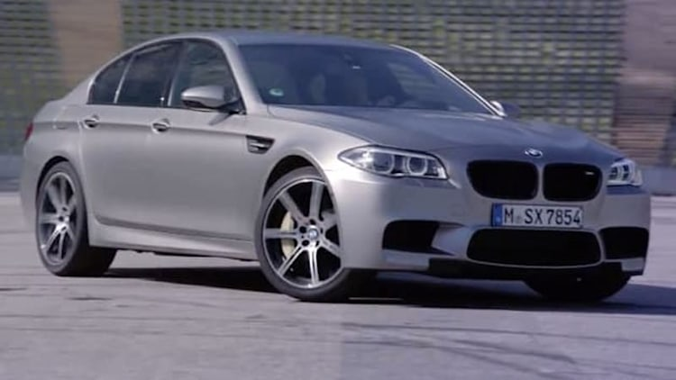 BMW takes 30th Anniversary Edition M5 out to drift