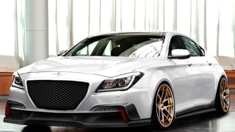 Hyundai Genesis gets stanced by Ark Performance for SEMA
