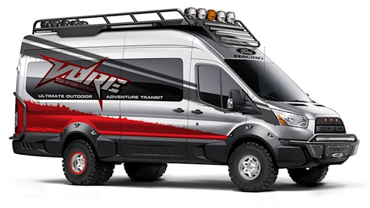 Ford Transit customs ready to work for SEMA