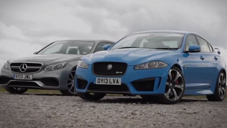 Jaguar XFR-S pitted against Mercedes E63 AMG