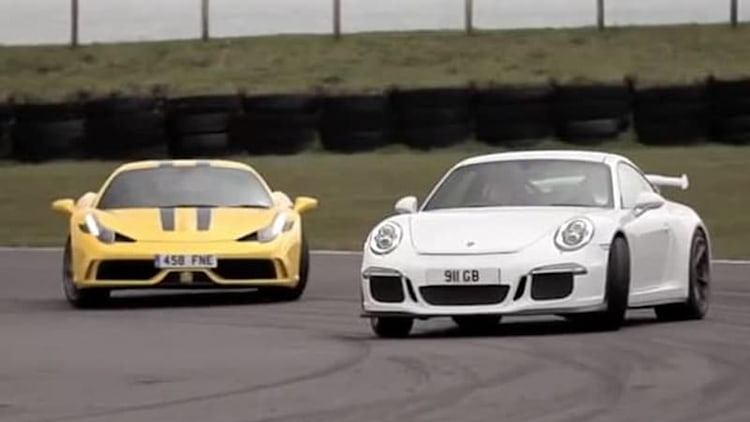 Ferrari 458 Speciale vs Porsche 911 GT3 shows what Chris Harris does best
