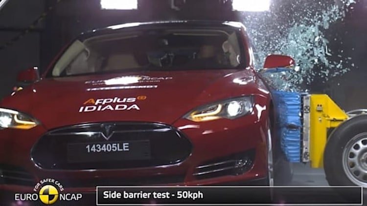 Tesla Model S scores 5 stars in Euro NCAP crash test