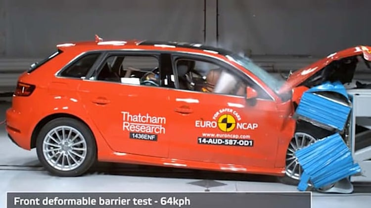 Audi A3 Sportback e-tron gets top grades in European crash tests [w/video]