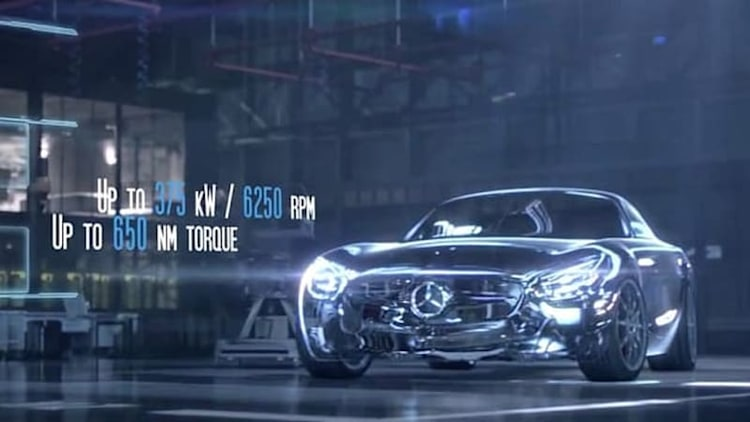 Mercedes details new 503-hp twin-turbo 4.0L V8 for AMG GT