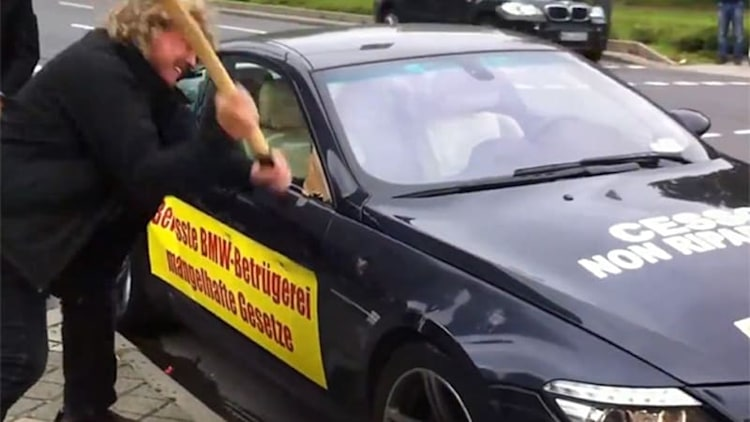 Watch man destroy his M6 'lemon' with a sledgehammer and ax