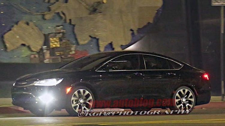 Chrysler's completely redesigned 200 caught totally uncovered