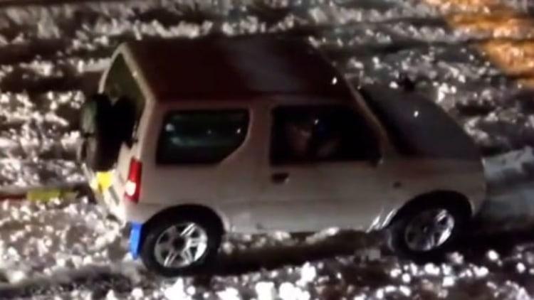 Suzuki Jimny displays Samurai spirit in Japanese snowstorm