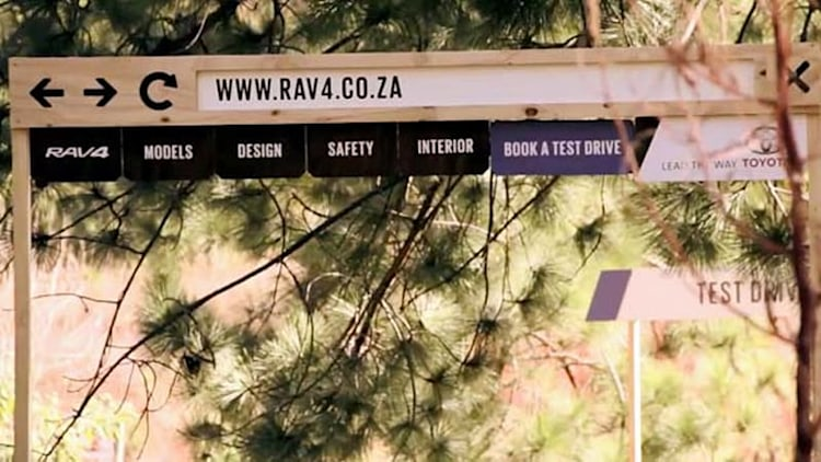 Toyota builds world's first 'outdoor website' for RAV4 promo