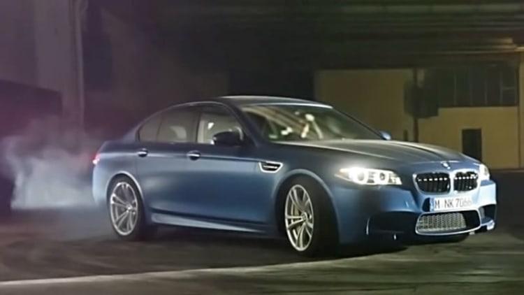 BMW M5 turns 30, celebrates sideways