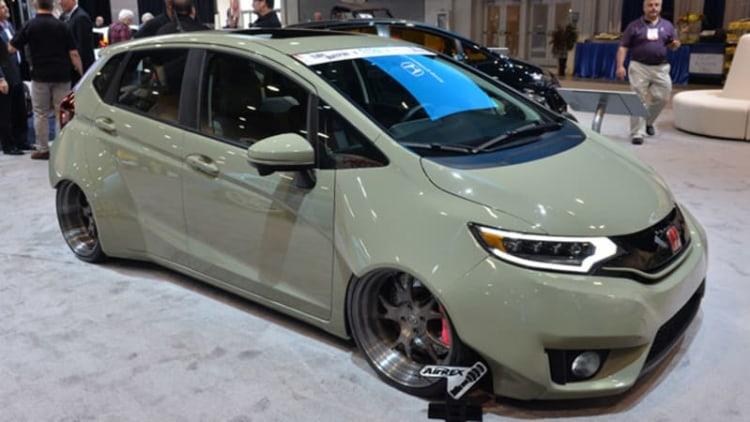Honda squeezes in 9 Fit customs at SEMA