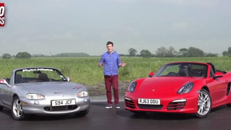 Can a hopped-up Miata take on the Porsche Boxster?