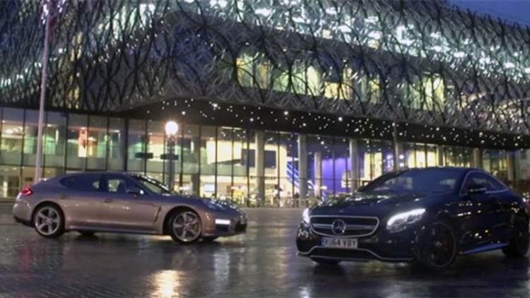 Mercedes S63 AMG Coupe vs Porsche Panamera Turbo S in unusual lux showdown