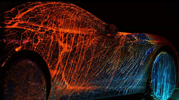 Ferrari California T Streaked With Color By Photographer