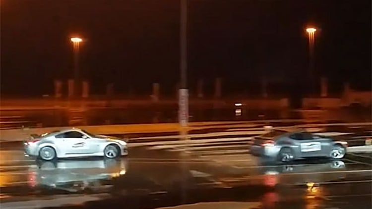 Watch these Nissan 350Zs set a record for world's longest twin drift