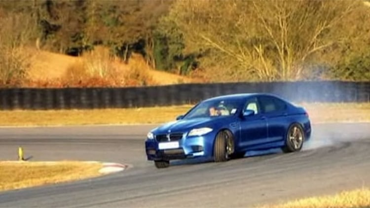 Vicki from <i>Fifth Gear</i> wrings out BMW's new M5