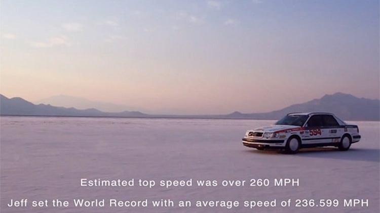 What's it like to go over 260 mph in an 20-year-old Audi S4? Watch this