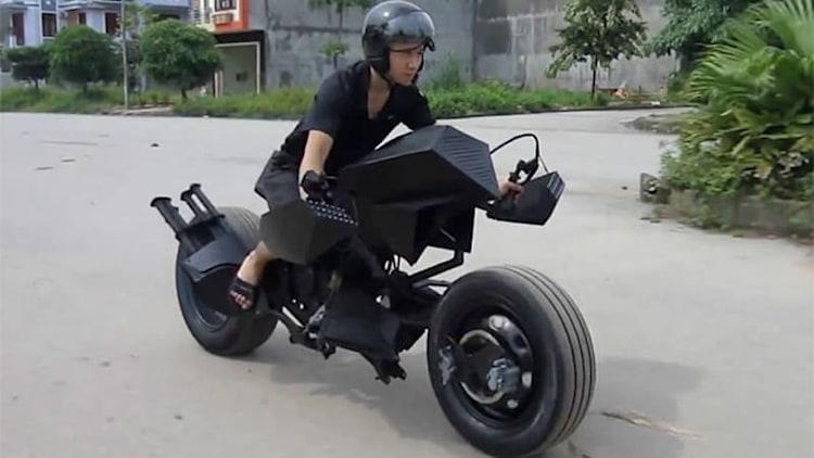 Vietnamese rider creates his own Batpod, forgets Batsuit riding gear