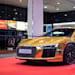 Audi R8 V10 Plus in gold chrome at Audi Forum Neckarsulm
