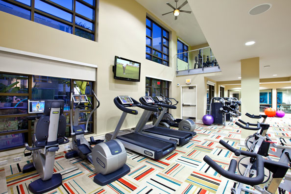 Multi-level premier fitness center.