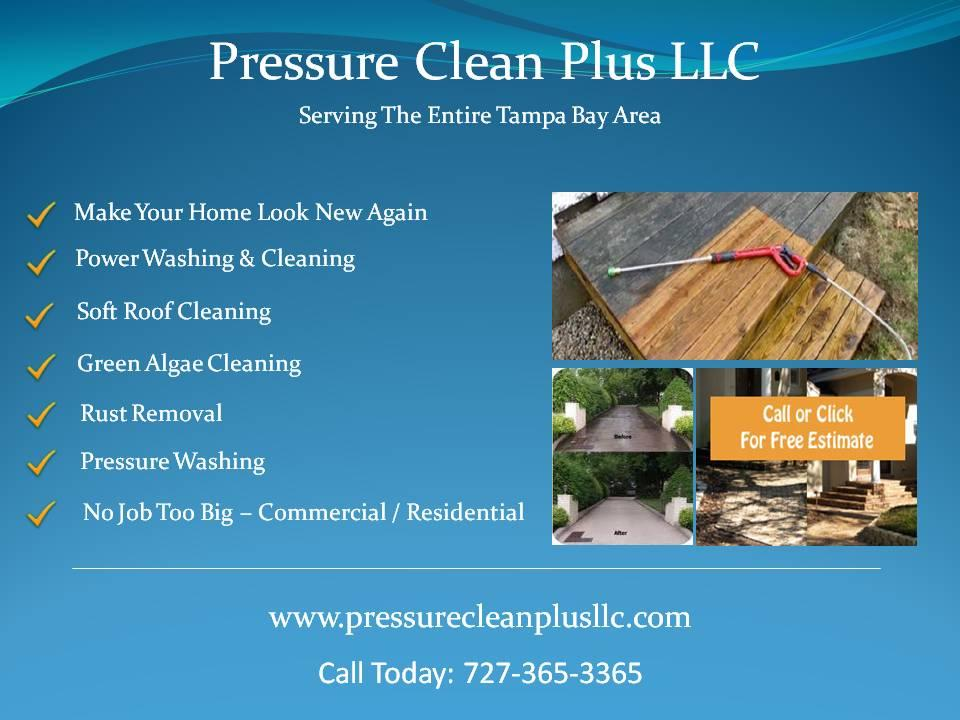 Pressure Washing - Roof Cleaning - Palm Harbor, Florida